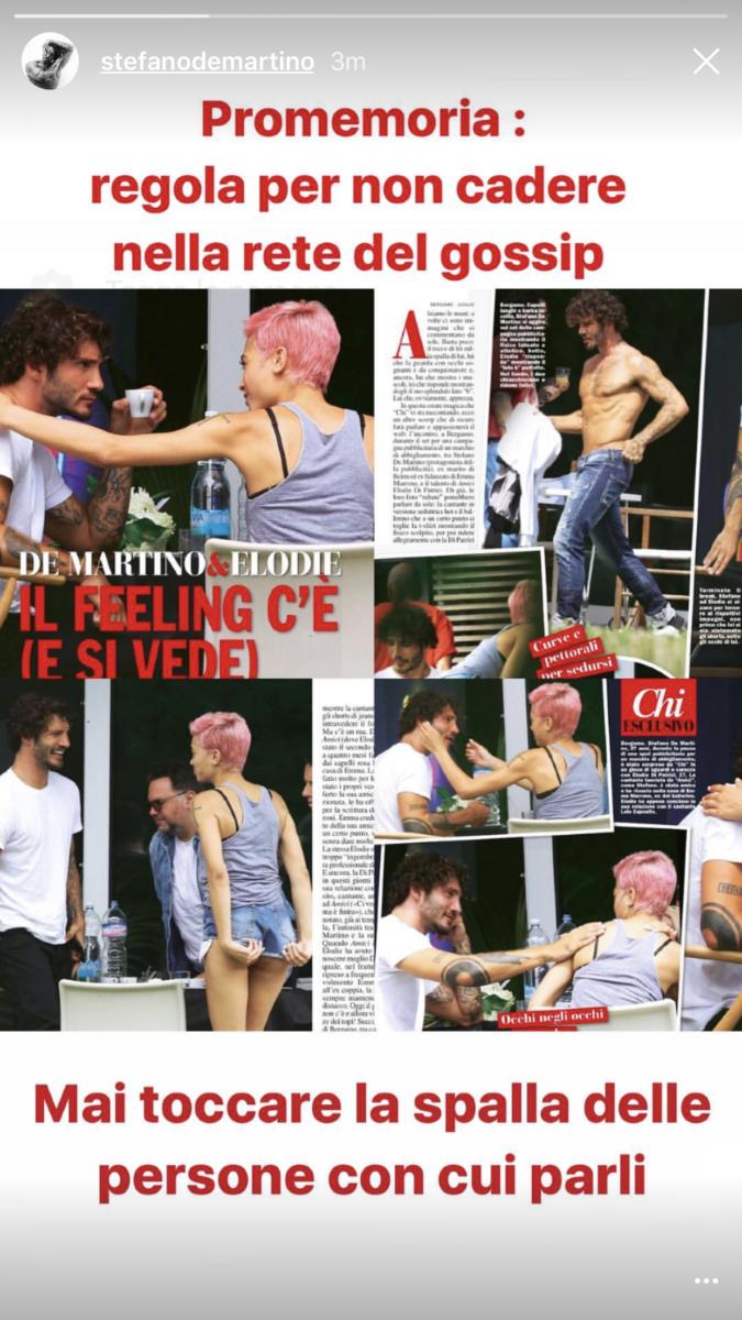 Stefano De Martino smentisce il flirt con Elodie