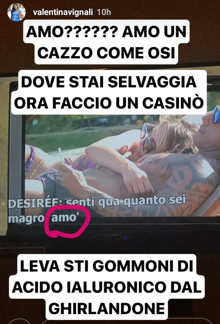 Valentina Vignali contro Desirèe Maldera su Instagram