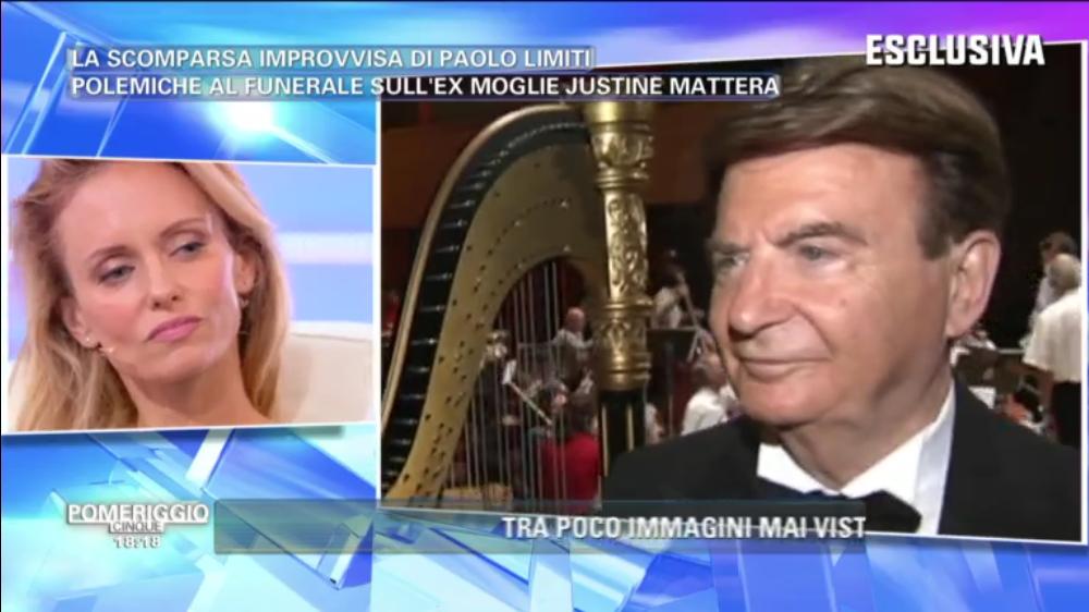 Pomeriggio 5, Justine Mattera dopo la morte di Paolo Limiti: 'Ognuno vive il lutto come crede'