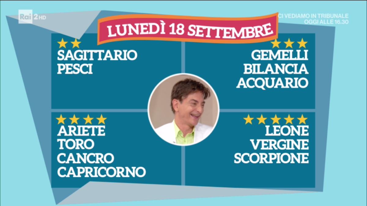 Oroscopo Paolo Fox oggi 18 settembre 2017 a I Fatti Vostri: Leone, amore al top