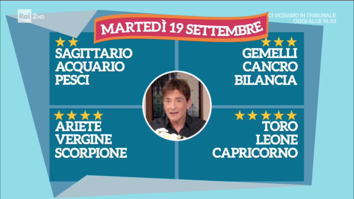 Oroscopo Paolo Fox oggi 19 settembre 2017 a I Fatti Vostri: Toro, stelle vincenti