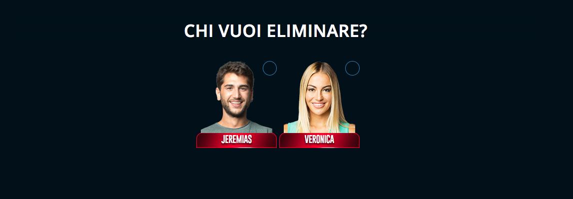 Grande Fratello VIP nominati sesta puntata Jeremias Rodriguez e Veronica Angeloni