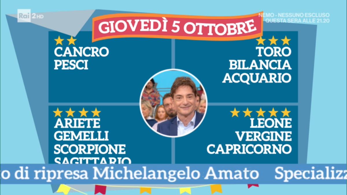 Oroscopo Paolo Fox 5 ottobre 2017 a I Fatti Vostri: Capricorno, stelle di successo