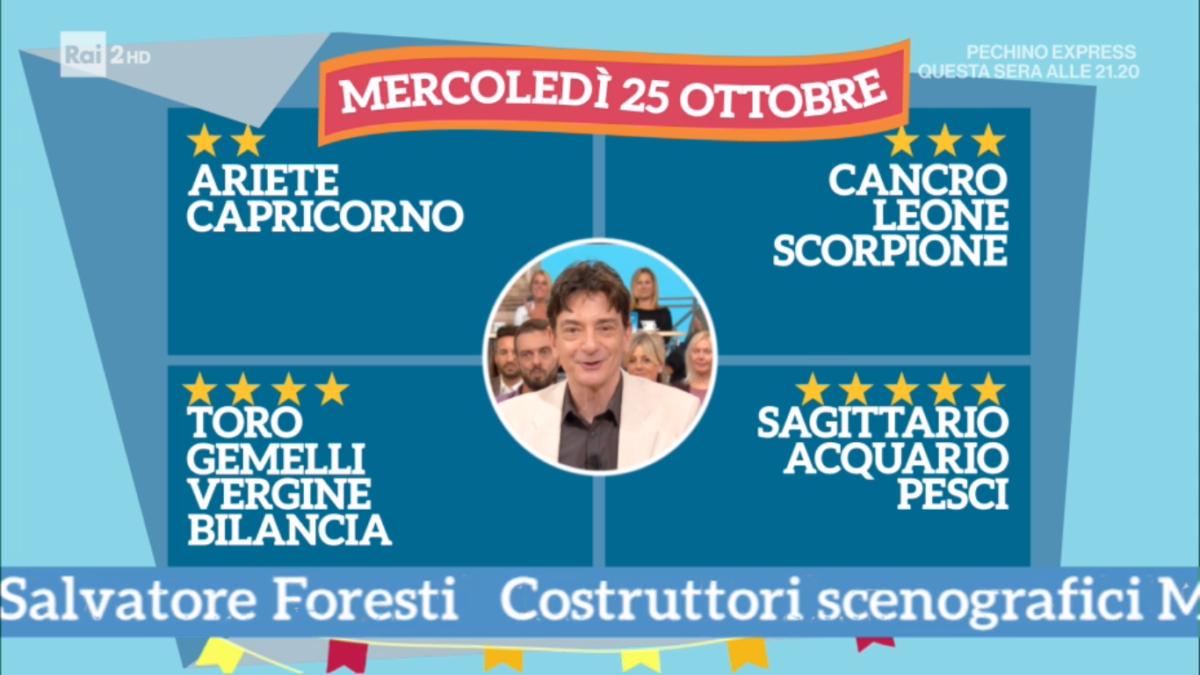 Oroscopo Paolo Fox oggi 25 ottobre 2017 a I Fatti Vostri: Pesci, è il vostro momento