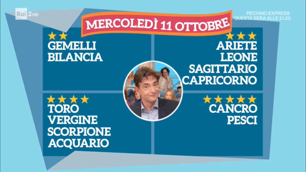Oroscopo Paolo Fox oggi 11 ottobre 2017 a I Fatti Vostri: Pesci, seguite l'istinto