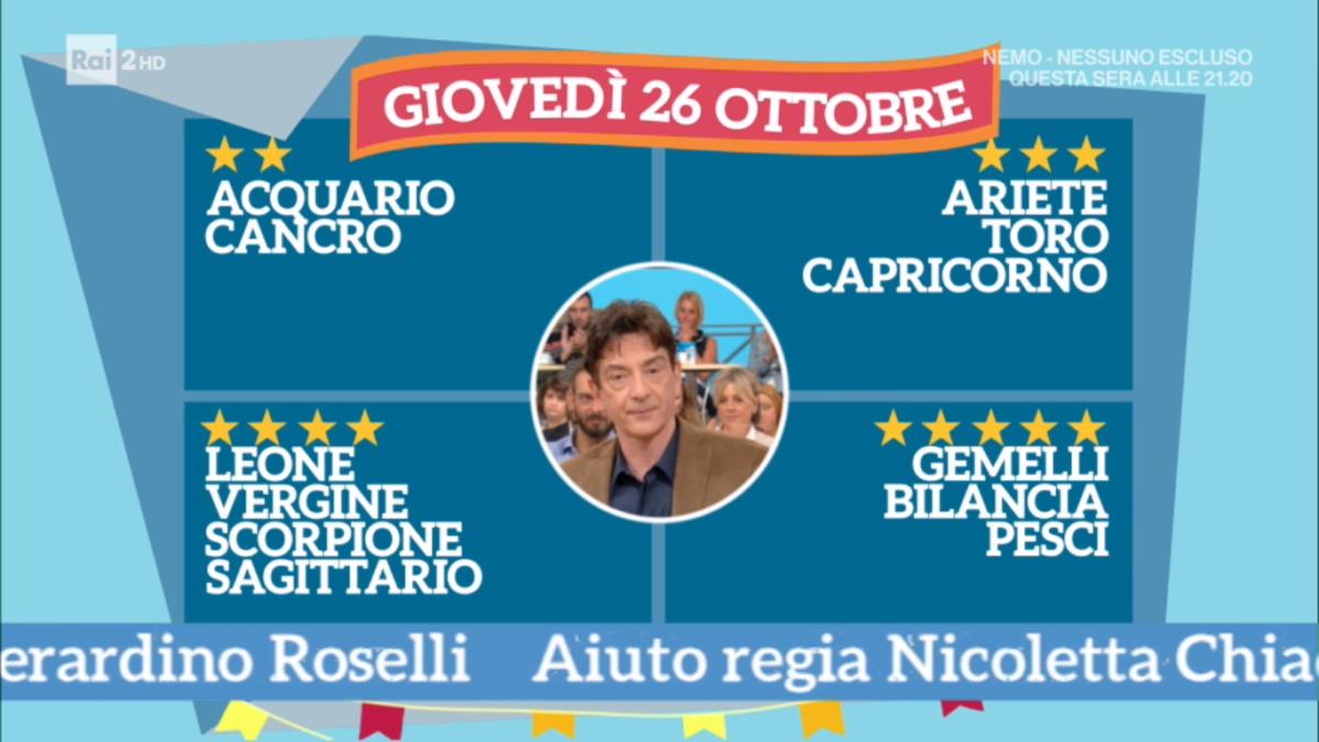 Oroscopo Paolo Fox oggi 26 ottobre 2017 a I Fatti Vostri: Bilancia, l'amore va alla grande