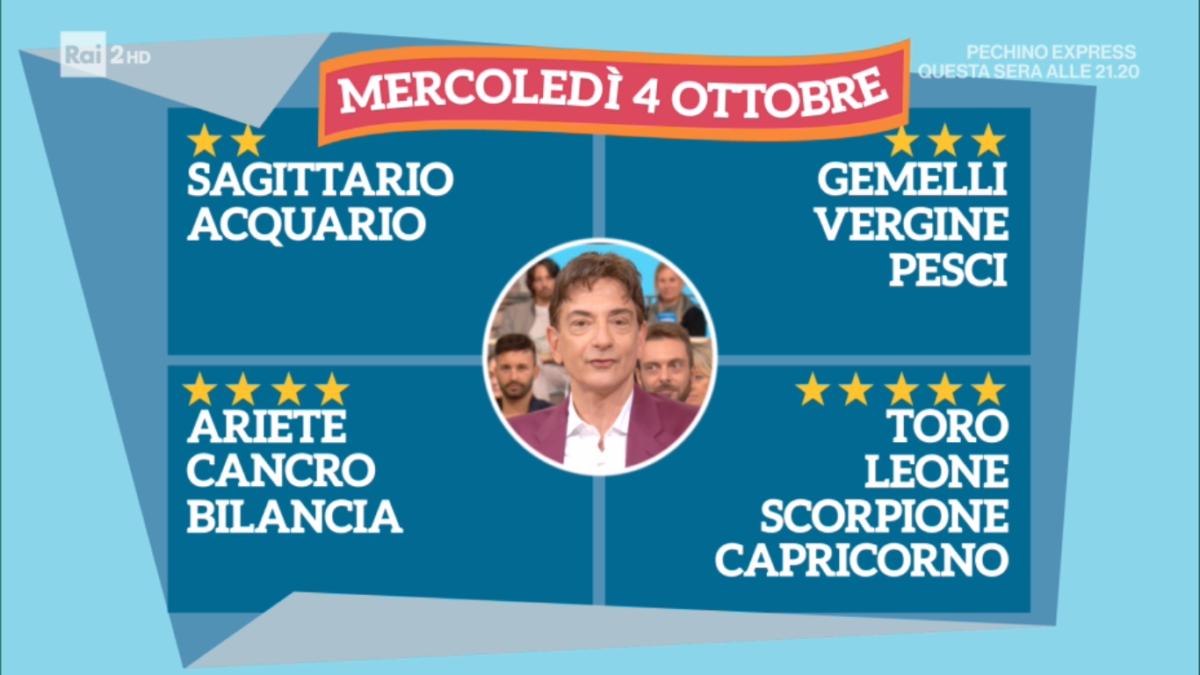 Oroscopo Paolo Fox oggi 4 ottobre 2017 a I Fatti Vostri: Scorpione, i protagonisti dello zodiaco