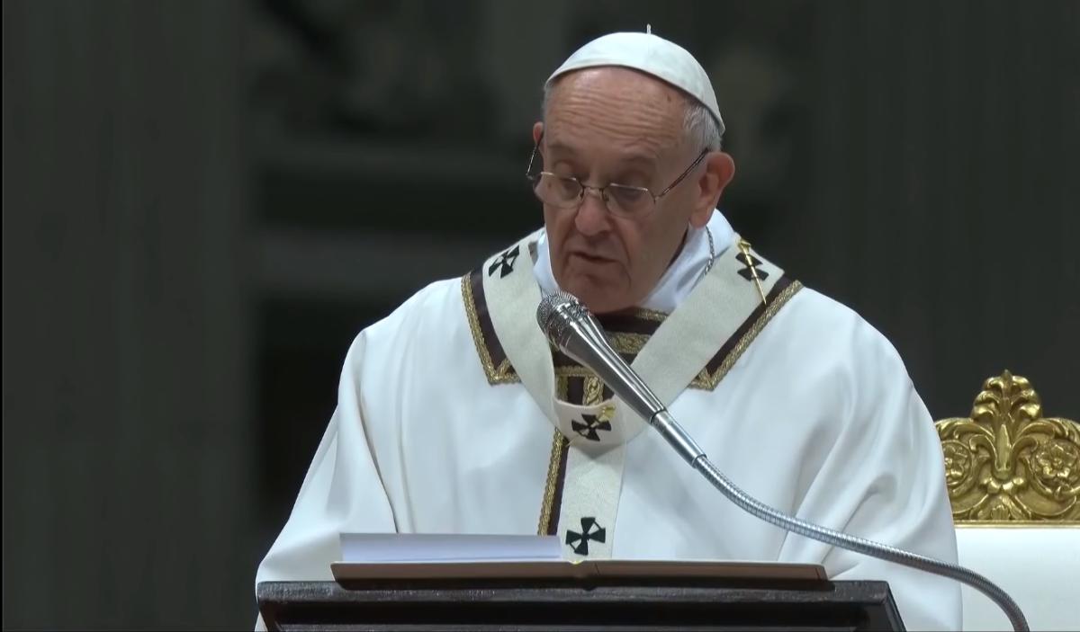 Papa Francesco messa Natale