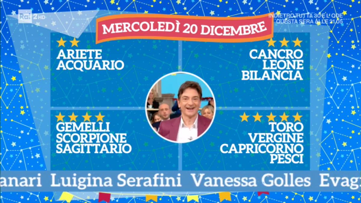 Oroscopo Paolo Fox oggi 20 dicembre 2017 a I Fatti Vostri: Pesci, siete vincenti