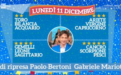 Oroscopo Paolo Fox oggi 11 dicembre 2017 a I Fatti Vostri: Cancro, previsioni a 5 stelle