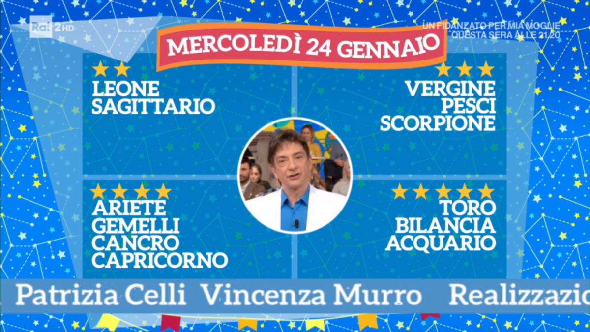 Oroscopo Paolo Fox oggi 24 gennaio 2018 a I Fatti Vostri: Bilancia, bel successo in arrivo