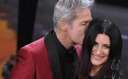 Festival di Sanremo 2018, Laura Pausini duetta con Baglioni ed esce sul red carpet