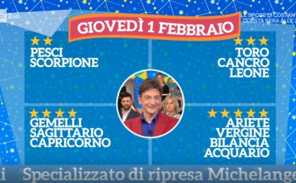Oroscopo Paolo Fox oggi 1 febbraio 2018 a I Fatti Vostri: Bilancia, sorprese in amore