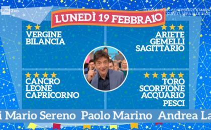 Oroscopo Paolo Fox oggi 19 febbraio 2018 a I Fatti Vostri: Toro, amore al top