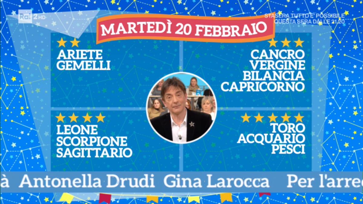 Oroscopo Paolo Fox oggi 20 febbraio 2018 a I Fatti Vostri: Acquario, voglia di novità
