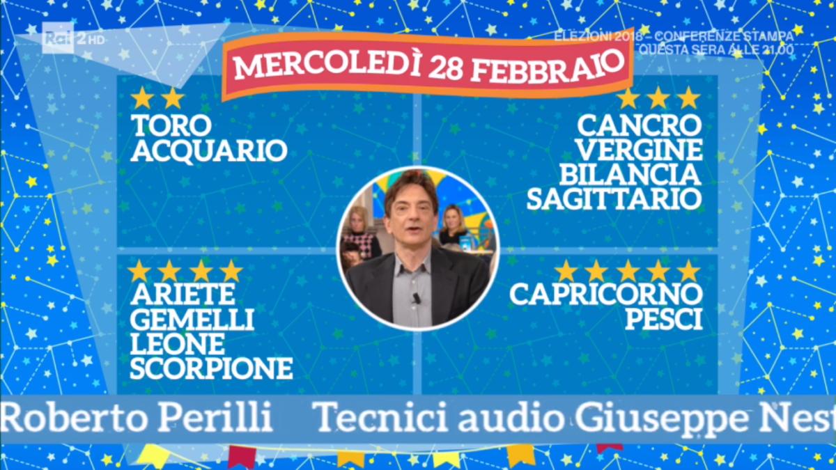 Oroscopo Paolo Fox oggi 28 febbraio 2018 a I Fatti Vostri: Leone, ritornate in scena
