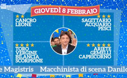 Oroscopo Paolo Fox oggi 8 febbraio 2018 a I Fatti Vostri: Gemelli, periodo fortunato