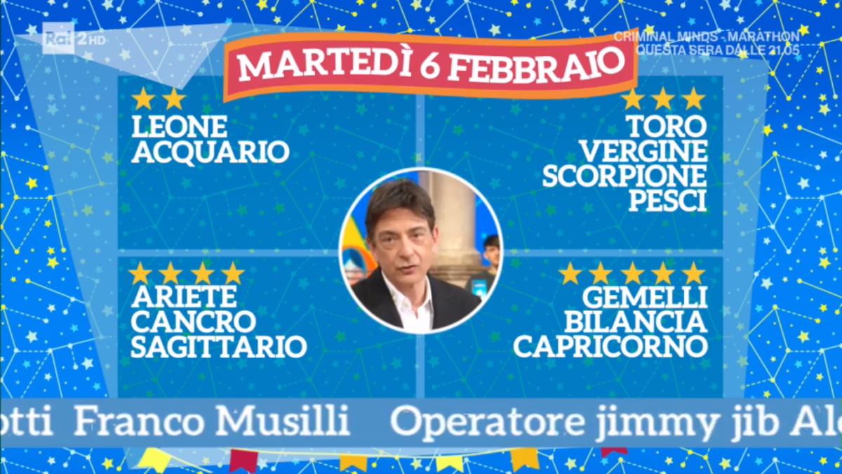 Oroscopo Paolo Fox oggi 6 febbraio 2018 a I Fatti Vostri: Capricorno, bella energia