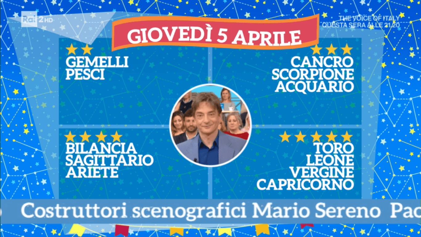 Oroscopo Paolo Fox oggi 5 aprile 2018 a I Fatti Vostri: Toro, i protagonisti delle stelle