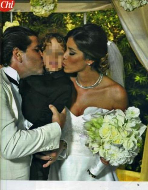 Vestito Da Sposa Aida Yespica.Aida Yespica E Il Marito Leonardo Gonzales Foto N 6
