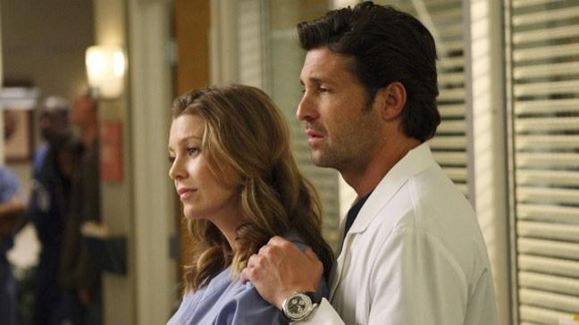 Meredith e Derek di Greys Anatomy