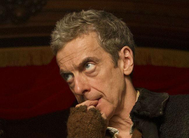 Doctor Who un primo piano di Peter Capaldi