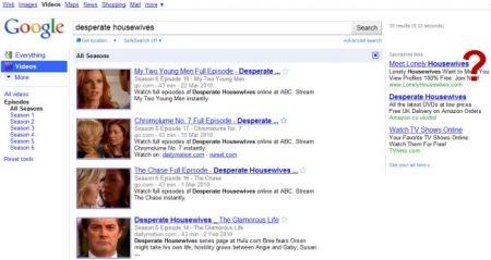 Google serie tv search
