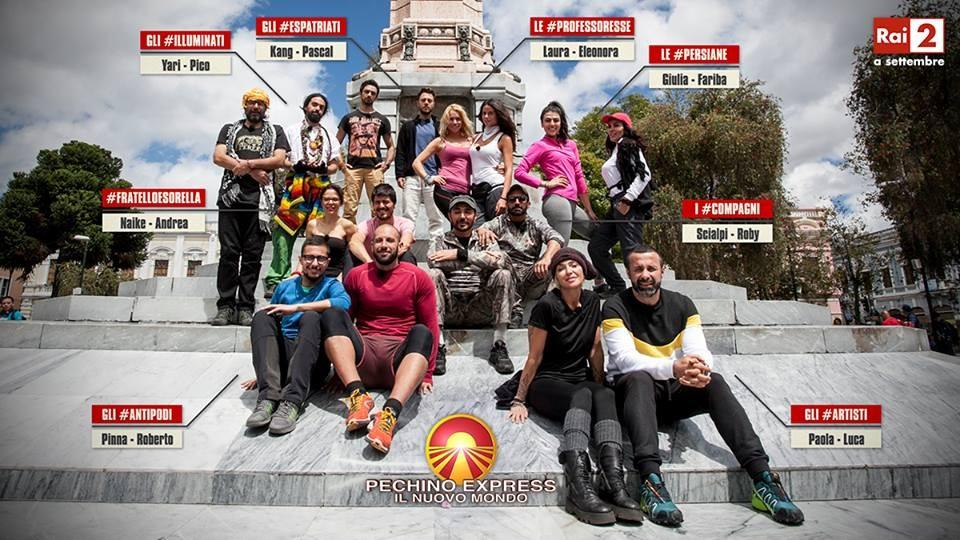 Il cast di Pechino Express 4