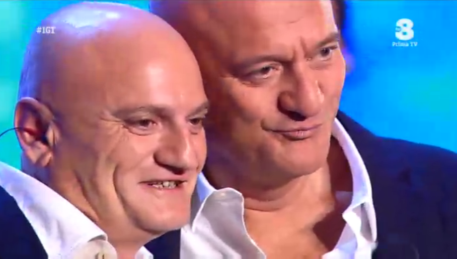 Claudio Bisio e il suo sosia a Italia's got talent 2016