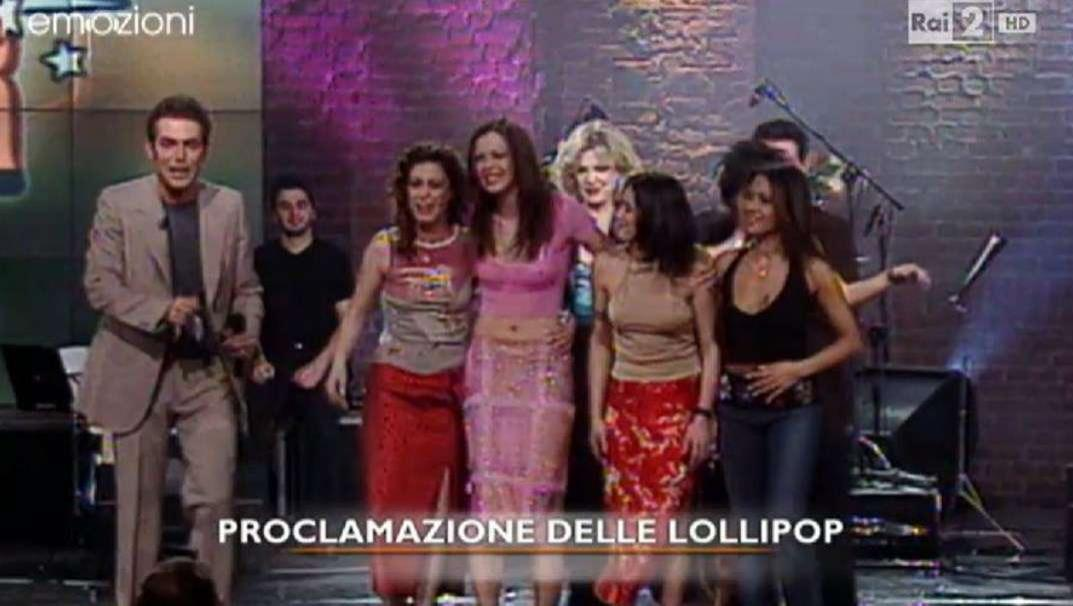 Lollipop a Popstars su Italia 1 (2001)