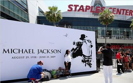 Foto ricordo davanti allo Staples Center