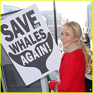 Hayden Panettiere Save the Whales Again